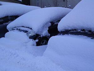 盛岡で久々の積雪