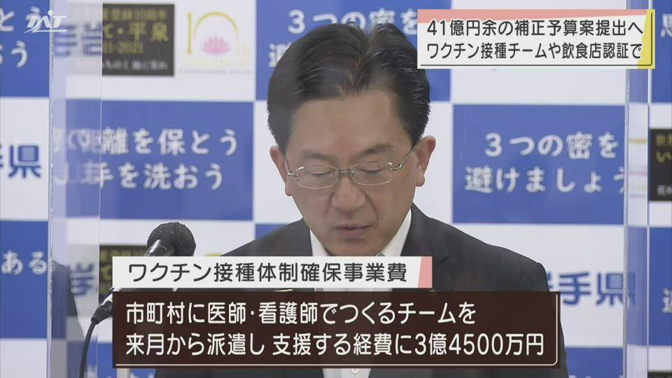 岩手県41億7100万円コロナ対策補正予算案