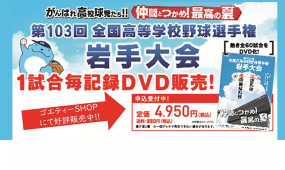 1試合毎記録DVD 発売決定