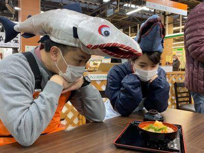 """魚菜市場に""""遡上"""""""