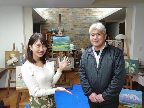 陸前高田市の画家 鷺 悦太郎さん