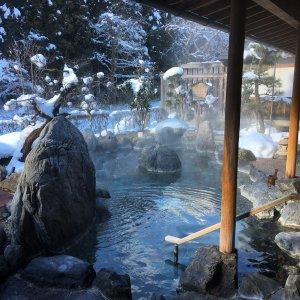新年!雪見風呂♨